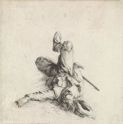 Maas Wall Art - Drawing - Wounded Soldier, Dirk Maas, Philips Wouwerman by Quint Lox