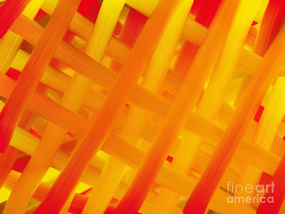 Digital Art - Woven - A Basket Weave Abstract by Andee Design