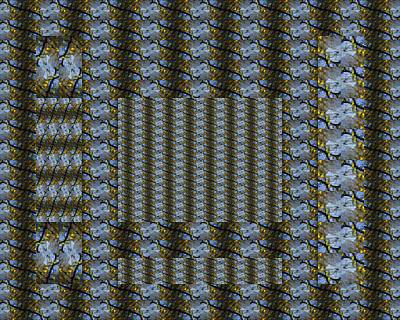 Photograph - Woven Blue And Gold Mosaic by Jodie Marie Anne Richardson Traugott          aka jm-ART