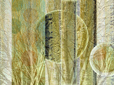Botanicals Mixed Media - Woven Branches by Ruth Palmer