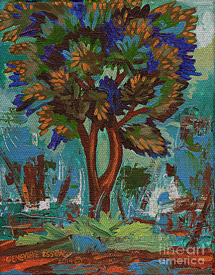Painting - Woven Classic Tree by Genevieve Esson