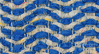 Fabric Tapestry - Textile - Woven Waves by Kerstin Ivarsson