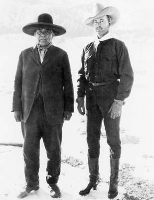 Wovoka And Tim Mccoy, 1926 Art Print by Granger