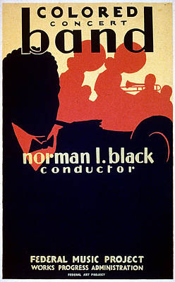 Depression Painting - Wpa Black Concert Poster by Granger