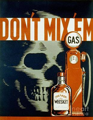 Ems Photograph - Wpa  Vintage Safety Poster by Edward Fielding