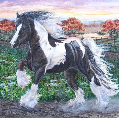 Wr Sundance Gypsy Horse Art Print