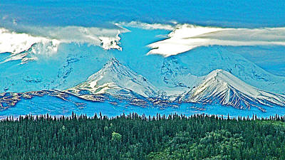 Elias Digital Art - Wrangell Mountains In Wrangell-saint Elias National Park-alaska  by Ruth Hager