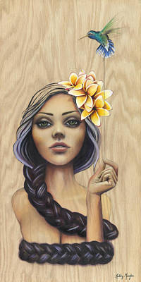 Plumeria Painting - Wrapped by Kelly Meagher