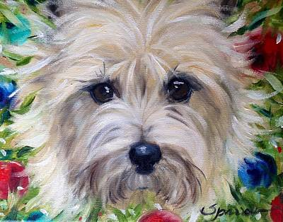 Toto Painting - Wreath by Mary Sparrow