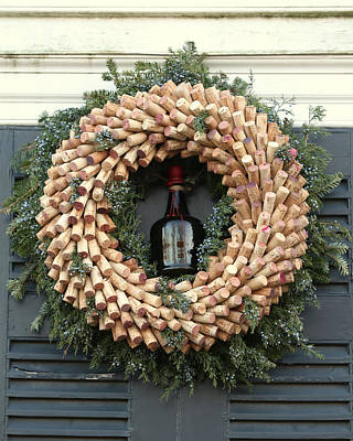 Photograph - Wreath Of Corks by Pete Federico