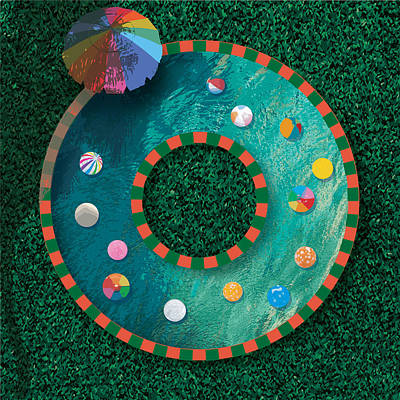 Digital Art - Wreath Pool by Stan  Magnan