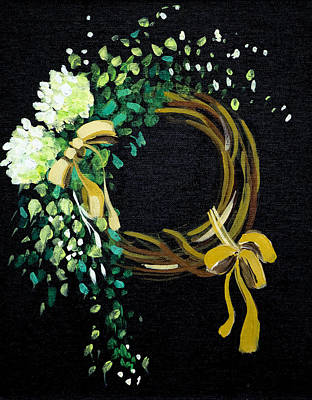 Painting - Wreath  by Richard Fritz