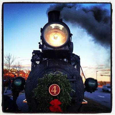 Iphone 4 Photograph - Wreathed Steamer~ #4 #train #locamotive by Chris T Darling