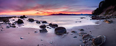 Wreck Beach Panorama Art Print by Alexis Birkill