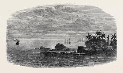 Boat Dock Drawing - Wreck Of The Mail Steam-ship Rangoon At Galle The Kadir by English School