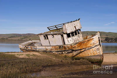 Photograph - Wreck Of The Point Reyes Boat In Inverness Point Reyes California Dsc2069 by Wingsdomain Art and Photography
