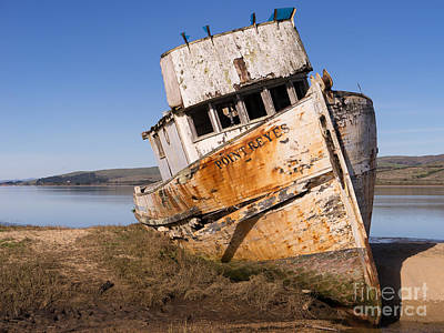 Photograph - Wreck Of The Point Reyes Boat In Inverness Point Reyes California Dsc2079 by Wingsdomain Art and Photography