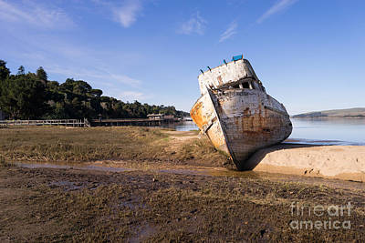 Photograph - Wreck Of The Point Reyes Boat In Inverness Point Reyes California Dsc2085 by Wingsdomain Art and Photography