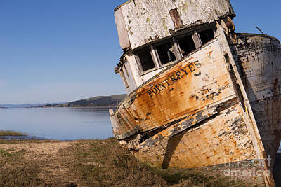 Photograph - Wreck Of The Point Reyes Boat In Inverness Point Reyes California Dsc2086 by Wingsdomain Art and Photography
