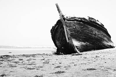 Carcass Photograph - Wreckage On The Bay by Marco Oliveira