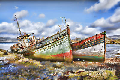 Photograph - Wrecked Boats by Craig B