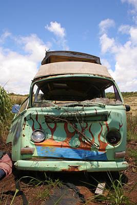 Photograph - Wrecked Volkswagen Van by John Orsbun