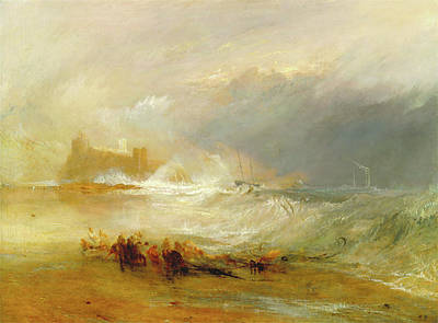 Northumberland Painting - Wreckers -- Coast Of Northumberland, With A Steam-boat by Litz Collection