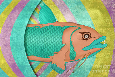 Catfish Digital Art - Wreckfish by Bruce Stanfield
