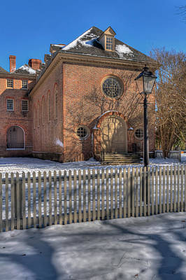 Photograph - Wren Chapel In Snow by Jerry Gammon