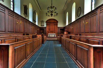 Photograph - Wren Chapel Interior by Jerry Gammon