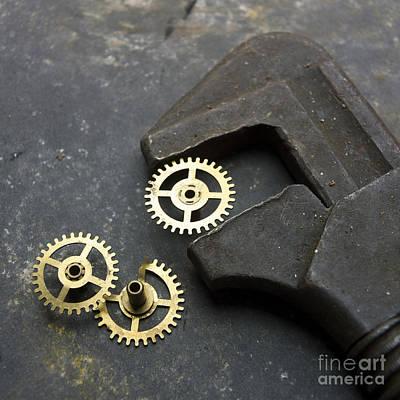 Gear Photograph - Wrench by Bernard Jaubert