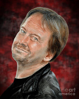 Drawing - Wrestling Legend Roddy Piper Altered Version by Jim Fitzpatrick