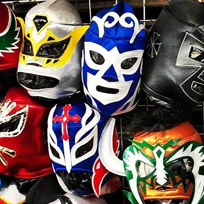 Wrestling Photograph - #wrestling #masks #tijuana #mexico by Dan Gaffney