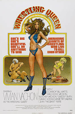 Bare Midriff Photograph - Wrestling Queen, Us Poster, Vivian by Everett