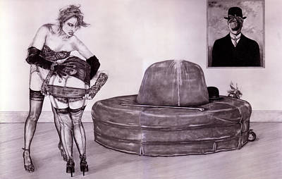 High Heels Art Drawing - Wrestling With 20thc Art #3 Magritte's 'the Great War'. by Richard Pike