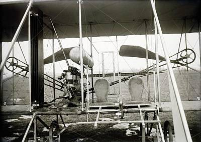 Wright Biplane Engine And Seats Print by Library Of Congress