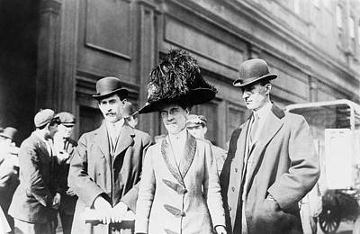 Trio Photograph - Wright Brothers And Sister by Library Of Congress
