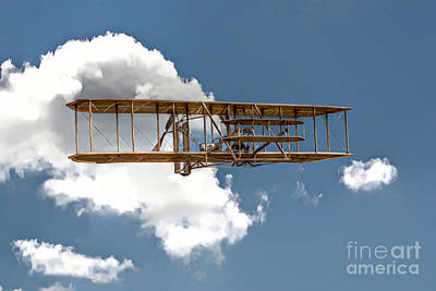 Wright Brothers First Flight Print by Randy Steele