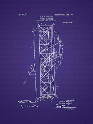 Photograph - Wright Brother's Flying Machine Patent by Barry Jones
