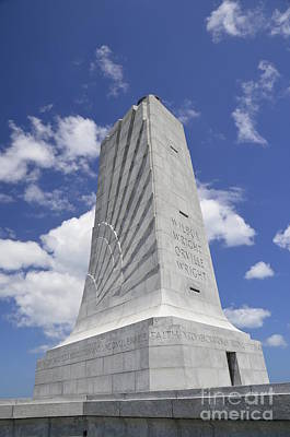 Photograph - Wright Brothers Memorial by Allen Beatty