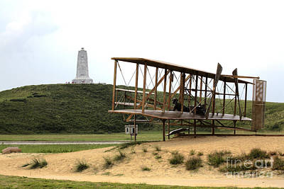 Wright Brothers Memorial At Kitty Hawk Art Print