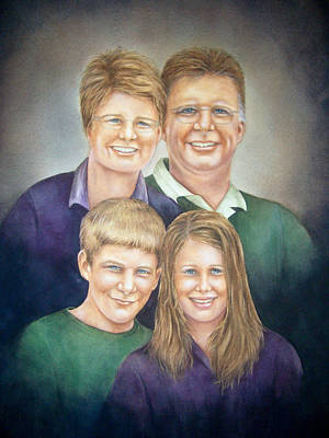 Painting - Wright Family Portrait by Nan Wright