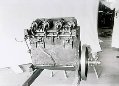 Wright Flyer Aircraft Engine Art Print by Library Of Congress