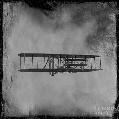 Kitty Digital Art - Wright Flyer First Flight by Randy Steele