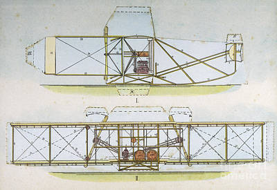 Photograph - Wright Flyer I by Mary Evans Picture Library