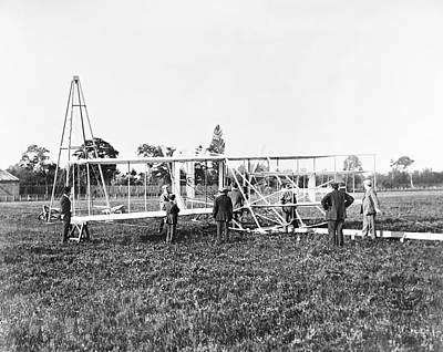 Wright Flyer II-iii And Catapult Print by Library Of Congress