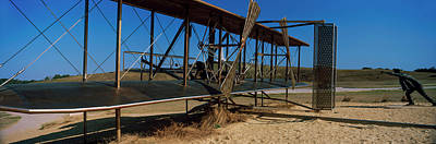 Wright Flyer Sculpture At Wright Art Print