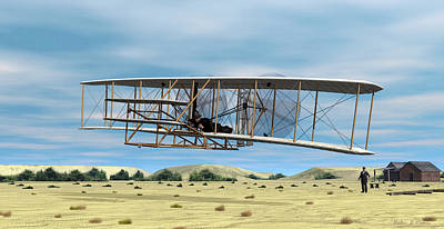 Digital Art - Wright Flyer by Walter Colvin