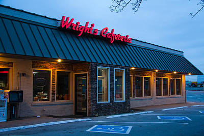Photograph - Wright's Cafeteria by Melinda Fawver