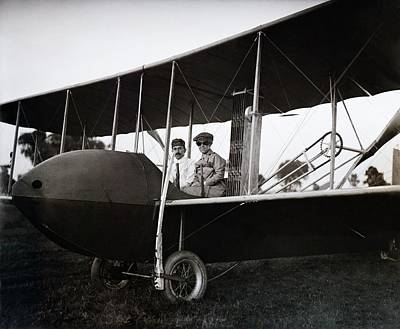 Wrights In Model Hs Airplane Art Print by Library Of Congress